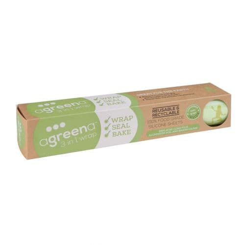 FD934 Agreena Three-In-One Reusable Food Wraps 200 x 200mm and 300 x 300mm (Pack of 4)